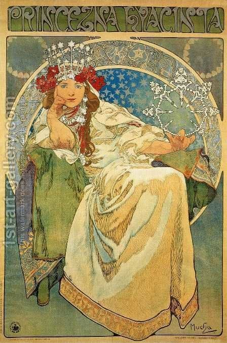 Princess Hyacinth, 1911 by Alphonse Maria Mucha - Reproduction Oil Painting