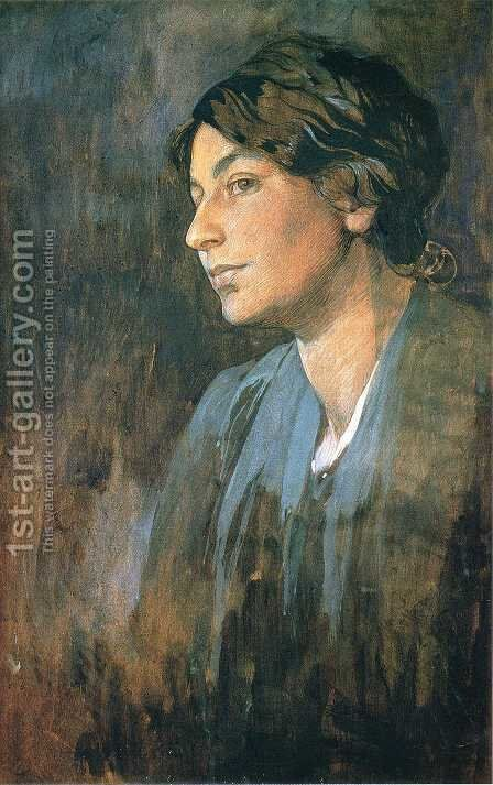 Portrait of Marushka, Artist's Wife, 1905 by Alphonse Maria Mucha - Reproduction Oil Painting