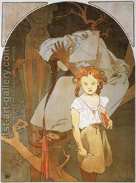 Lotery of National Unity, 1912 by Alphonse Maria Mucha - Reproduction Oil Painting