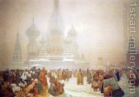 The Abolition of Serfdom in Russia, 1914 by Alphonse Maria Mucha - Reproduction Oil Painting