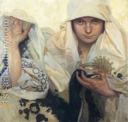 Fate, 1920 by Alphonse Maria Mucha - Reproduction Oil Painting