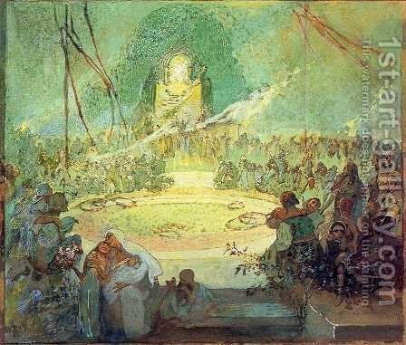 Age of Love, 1936-1938 by Alphonse Maria Mucha - Reproduction Oil Painting