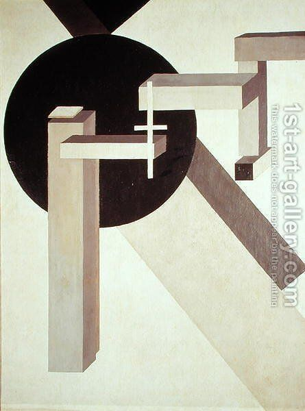 Proun 10, 1919 by Eliezer (El) Markowich Lissitzky - Reproduction Oil Painting