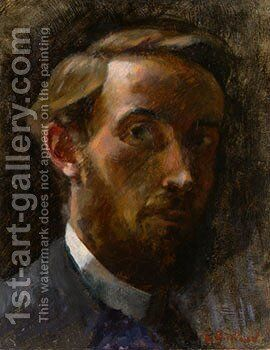 Self-Portrait, 1889 by Edouard  (Jean-Edouard) Vuillard - Reproduction Oil Painting