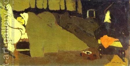 Sleep. c. 1891 by Edouard  (Jean-Edouard) Vuillard - Reproduction Oil Painting