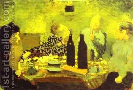The Family After the Meal or The Green Diner (La Famille apres le repas ou Le Diner vert) 1891 by Edouard  (Jean-Edouard) Vuillard - Reproduction Oil Painting