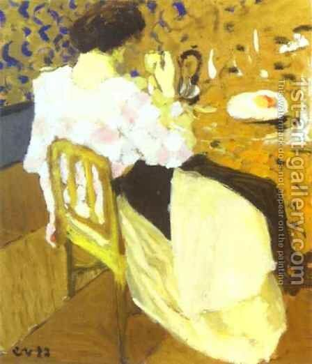 The Breakfast-Le Breakfast. 1892 by Edouard  (Jean-Edouard) Vuillard - Reproduction Oil Painting