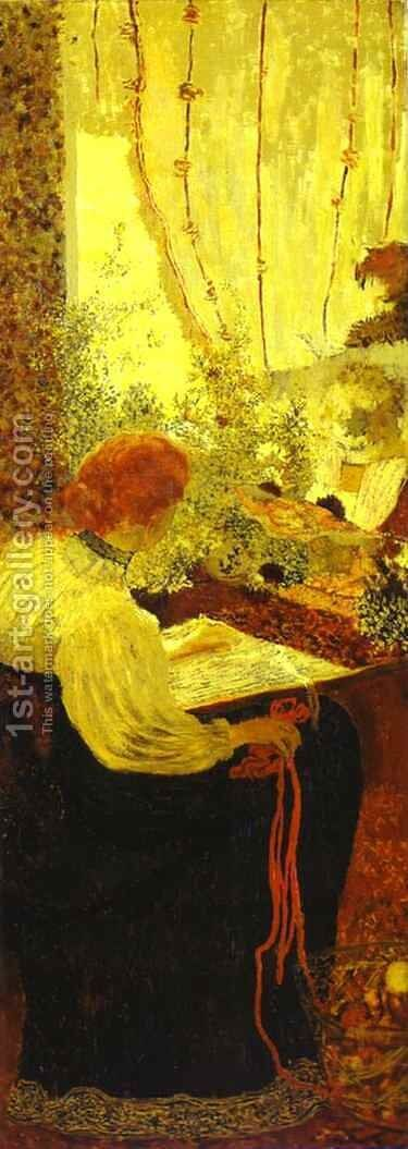Tapestry or Embroiderers (La Tapisserie ou Les Brodeuses) 1895 by Edouard  (Jean-Edouard) Vuillard - Reproduction Oil Painting