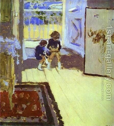 Children in a Room. 1909 by Edouard  (Jean-Edouard) Vuillard - Reproduction Oil Painting