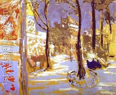 The Boulevard of Batignolles (Le Boulevard des Batignolles) c. 1910 by Edouard  (Jean-Edouard) Vuillard - Reproduction Oil Painting