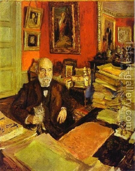 Theodore Duret, 1912 by Edouard  (Jean-Edouard) Vuillard - Reproduction Oil Painting