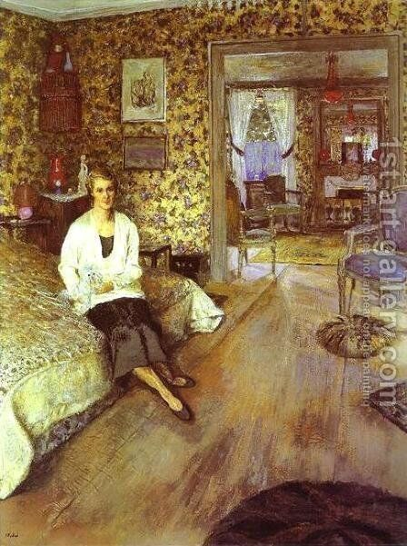 Countess Jean de Polignac. 1932 by Edouard  (Jean-Edouard) Vuillard - Reproduction Oil Painting