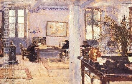 In a Room, 1899 by Edouard  (Jean-Edouard) Vuillard - Reproduction Oil Painting