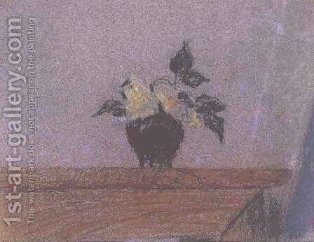 Flower Piece, c.1906 by Edouard  (Jean-Edouard) Vuillard - Reproduction Oil Painting