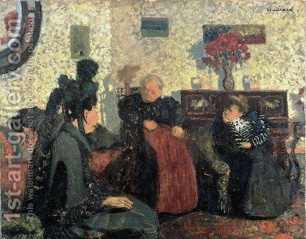 The Widow's Visit, 1899 by Edouard  (Jean-Edouard) Vuillard - Reproduction Oil Painting