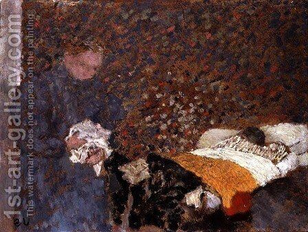 The Sick Child, c.1892 by Edouard  (Jean-Edouard) Vuillard - Reproduction Oil Painting