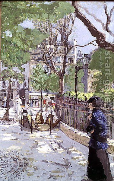 Place Vintimille by Edouard  (Jean-Edouard) Vuillard - Reproduction Oil Painting