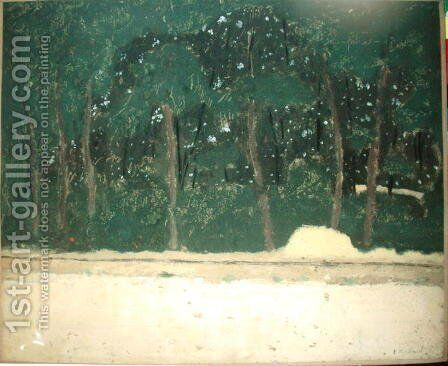 Route on the Edge of the Forest, c.1904 by Edouard  (Jean-Edouard) Vuillard - Reproduction Oil Painting