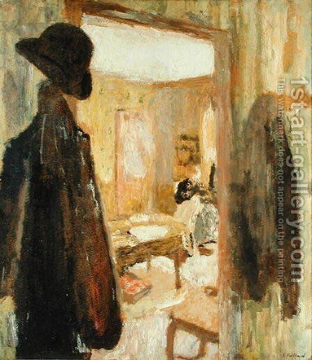 The Open Door, 1900-04 by Edouard  (Jean-Edouard) Vuillard - Reproduction Oil Painting