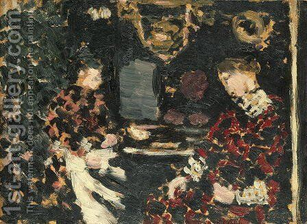 Woman under a Lantern, 1896 by Edouard  (Jean-Edouard) Vuillard - Reproduction Oil Painting