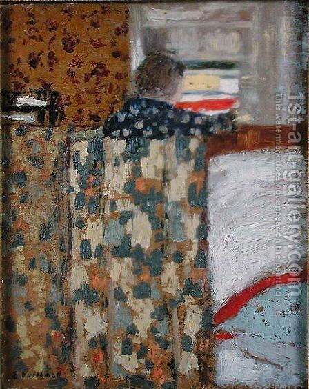 The Linen Cupboard, c.1893-95 by Edouard  (Jean-Edouard) Vuillard - Reproduction Oil Painting