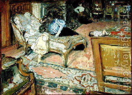Confidence (The Bernheim Children in the Salon) 1905 by Edouard  (Jean-Edouard) Vuillard - Reproduction Oil Painting