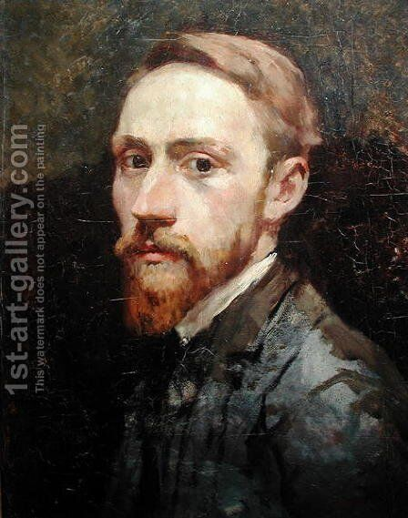 Self Portrait, c.1889-90 by Edouard  (Jean-Edouard) Vuillard - Reproduction Oil Painting