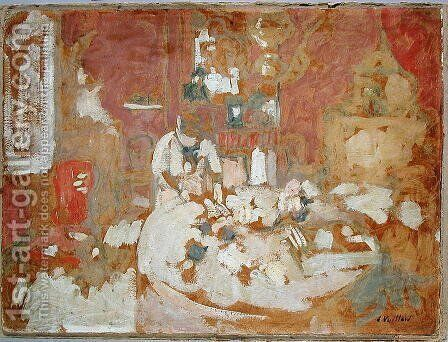 The Table by Edouard  (Jean-Edouard) Vuillard - Reproduction Oil Painting