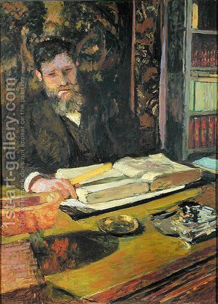 Arthur Fontaine (1860-1931) c.1906 by Edouard  (Jean-Edouard) Vuillard - Reproduction Oil Painting