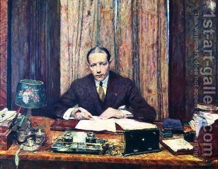 Lucien Rosengart (1881-1976) c.1925 by Edouard  (Jean-Edouard) Vuillard - Reproduction Oil Painting