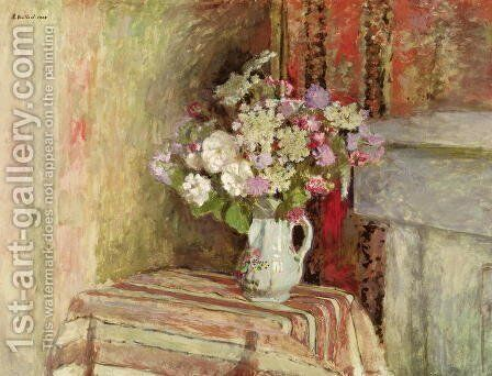 Flowers in a Vase, 1905 by Edouard  (Jean-Edouard) Vuillard - Reproduction Oil Painting
