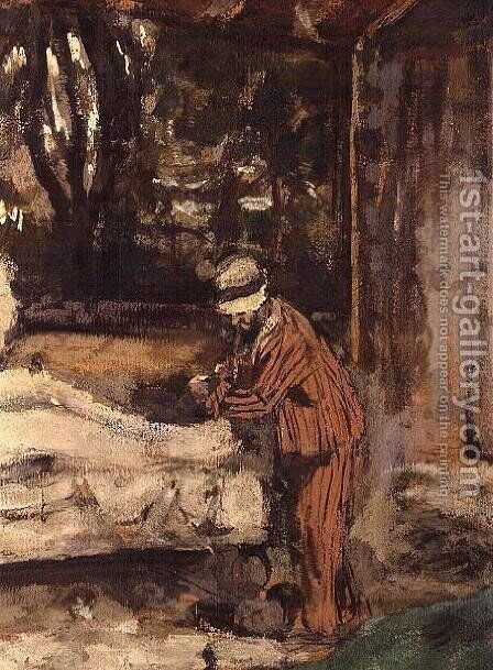 Maillol at work on the Cezanne Memorial, c.1925 (detail-3) by Edouard  (Jean-Edouard) Vuillard - Reproduction Oil Painting
