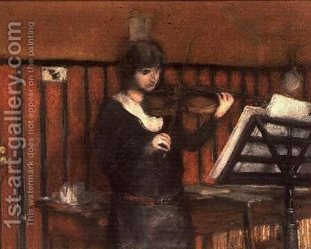 Madame Miriam Fried (b.1846), the violinist by Edouard  (Jean-Edouard) Vuillard - Reproduction Oil Painting