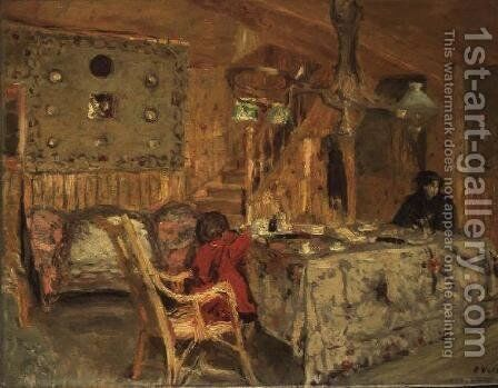 Denise Natanson and Marcelle Aron at Villerville by Edouard  (Jean-Edouard) Vuillard - Reproduction Oil Painting