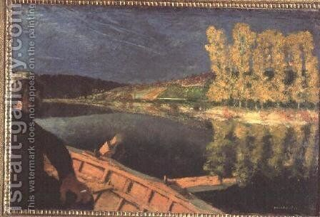 The Oarsman, 1897 by Edouard  (Jean-Edouard) Vuillard - Reproduction Oil Painting