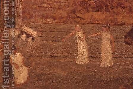 On Stage at the Theatre, c.1893 by Edouard  (Jean-Edouard) Vuillard - Reproduction Oil Painting