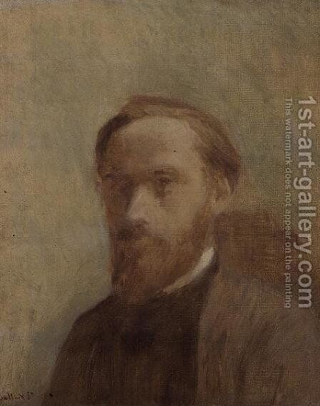 Self Portrait, c.1890 by Edouard  (Jean-Edouard) Vuillard - Reproduction Oil Painting