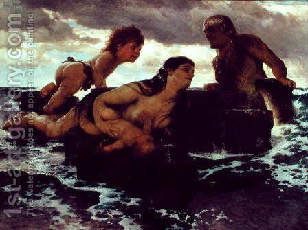 Sea Idyll, 1887 by Arnold Böcklin - Reproduction Oil Painting