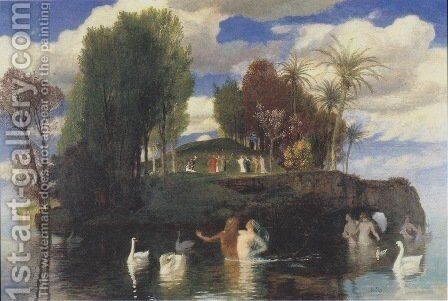 The Island of the Living, 1888 by Arnold Böcklin - Reproduction Oil Painting