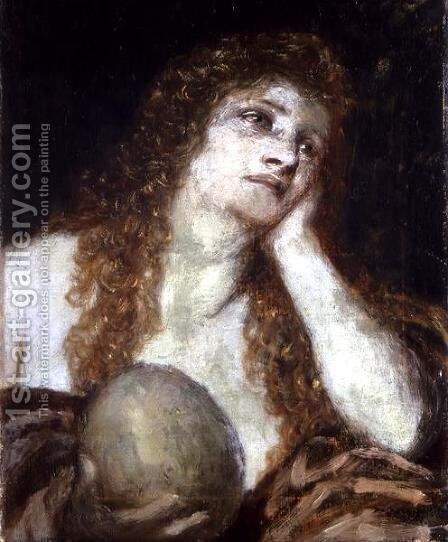 The Penitent Mary Magdalene, 1873 by Arnold Böcklin - Reproduction Oil Painting