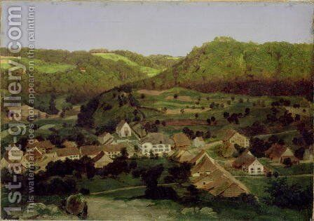 A View of the Village of Tenniken, 1846 by Arnold Böcklin - Reproduction Oil Painting