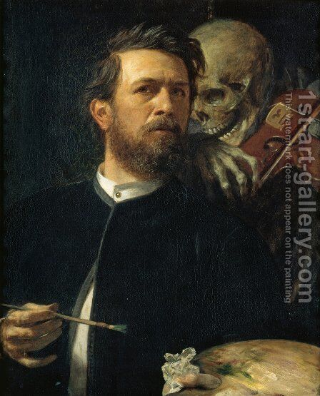 Self-portrait, oil on canvas, 1872 by Arnold Böcklin - Reproduction Oil Painting