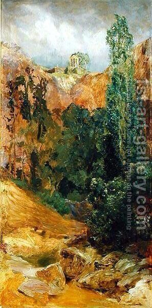 Rock Ravine, 1884-85 by Max Klinger - Reproduction Oil Painting