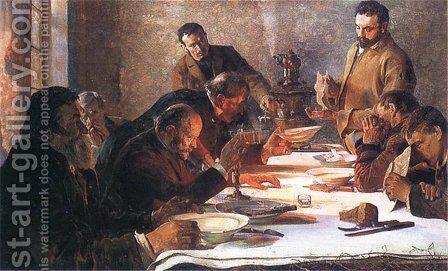 Christmas Eve in Siberia, 1892 by Jacek Malczewski - Reproduction Oil Painting