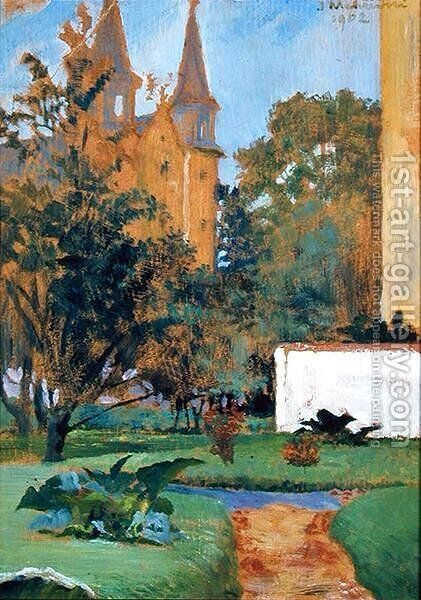 The Garden of the Carmelite Church, Cracow, 1902 by Jacek Malczewski - Reproduction Oil Painting