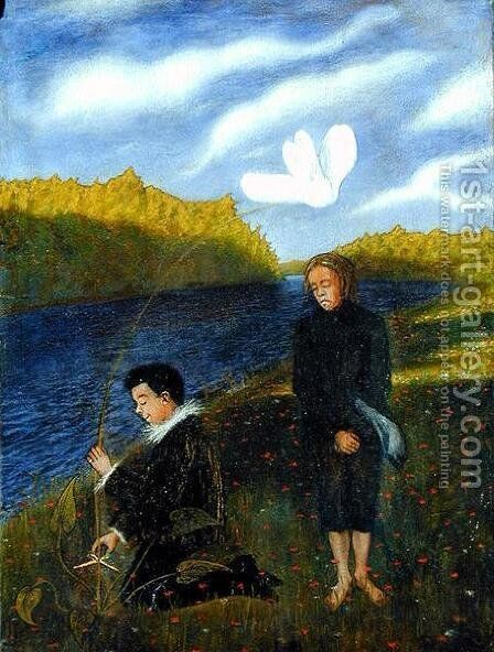 The Wonderful Flower by Hugo Simberg - Reproduction Oil Painting