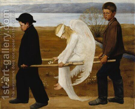 The Wounded Angel from 1903 by Hugo Simberg - Reproduction Oil Painting