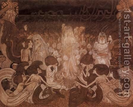 The Three Fiancees by Jan Toorop - Reproduction Oil Painting