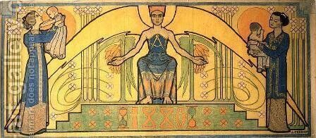 Life's Guardian by Jan Toorop - Reproduction Oil Painting