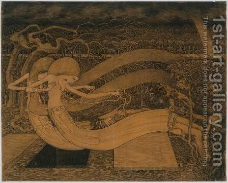 O Grave, Where Is Thy Victory? 1892 by Jan Toorop - Reproduction Oil Painting
